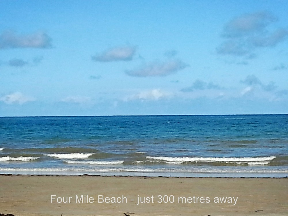 Four Mile Beach - just 300 metres away
