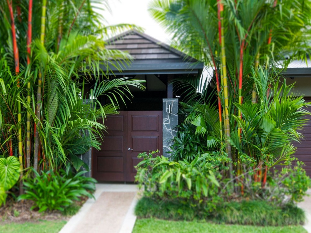 Entry to this very private Port Douglas house for
