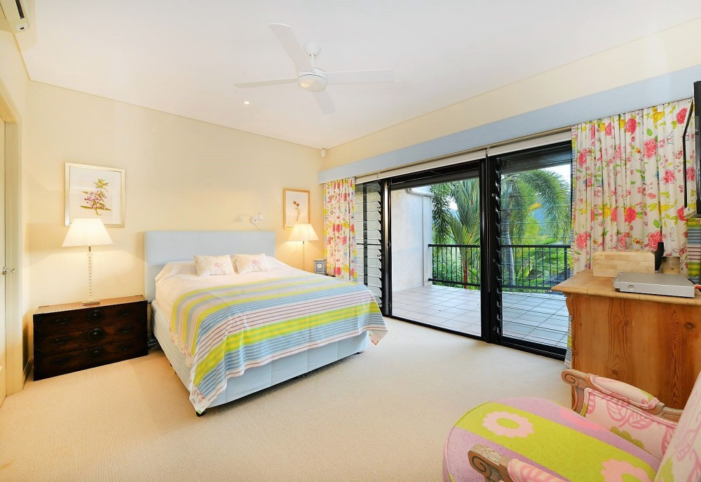 Main bedroom with designer touches