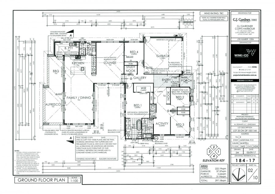 Potential home built for this block - Plan page 2