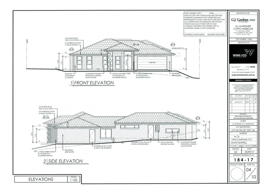 Potential home built for this block- Plan page 3