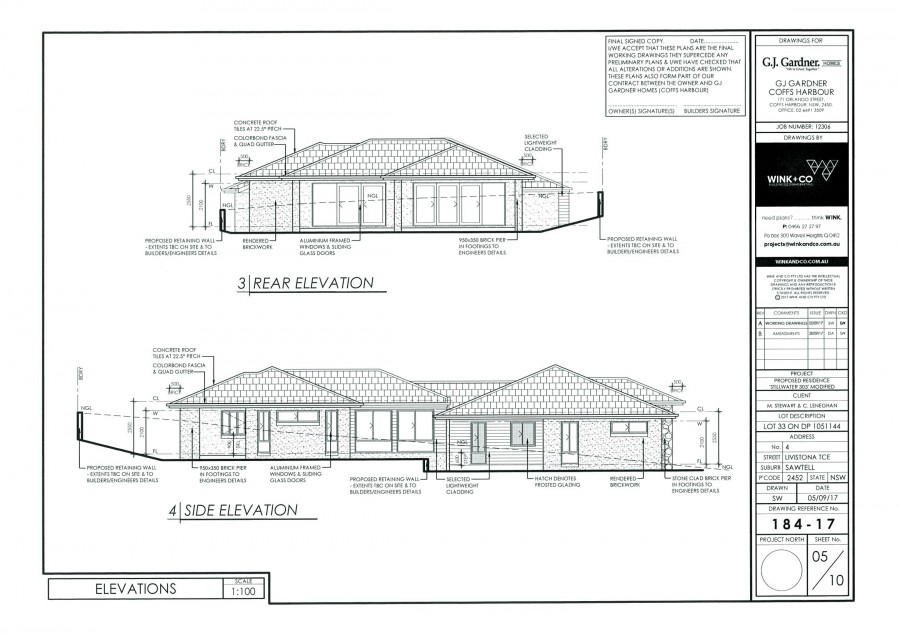 Potential home built for this block - Plan page 4